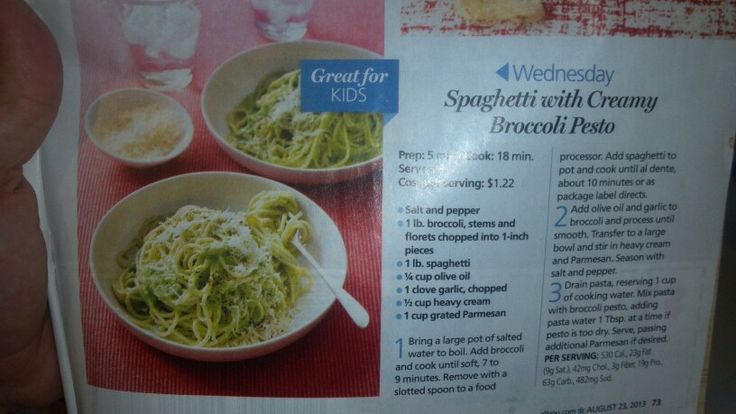 Spaghetti with creamy broccoli pesto | Stuff from magazines that I do ...