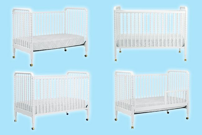 Safety 1st Heavenly Dreams White Crib Mattress Reviews Jenny Lind 3-in-1 Convertible Crib #crib #kids #furniture #children