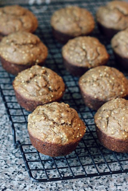 crackly banana bread (with whole wheat and millet)