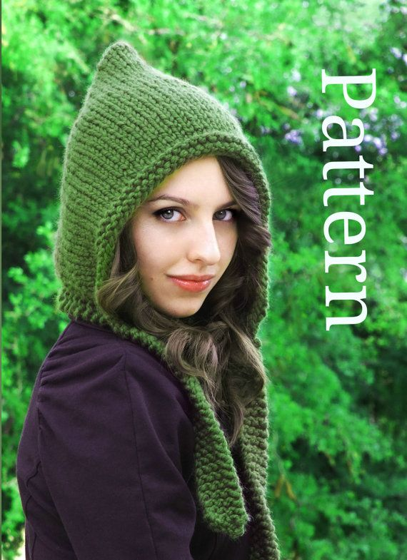 Pixie Hat Pattern  Pixie Hood Pattern  Knit Hat by CreatiKnit, $5.50