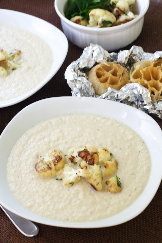 Oven Love: Cauliflower and Roasted Garlic Soup