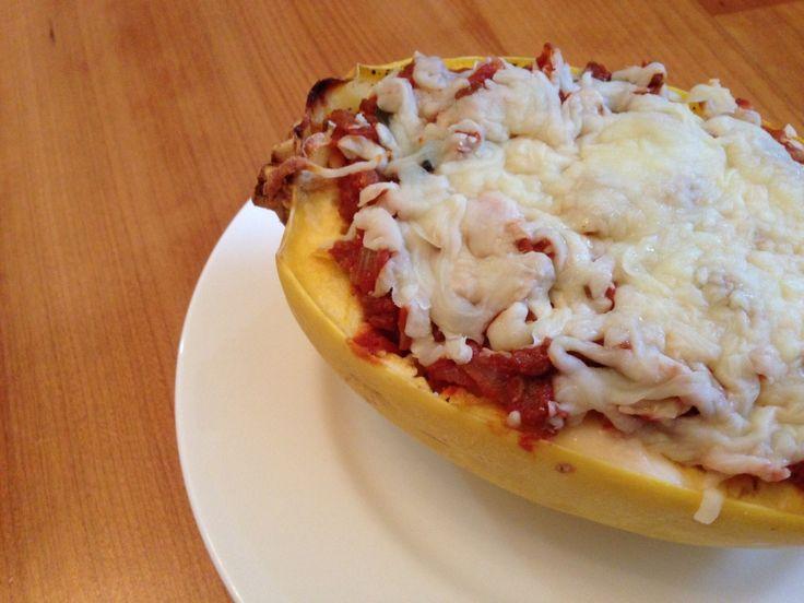 Lasagna stuffed spaghetti squash | Food & Drink | Pinterest