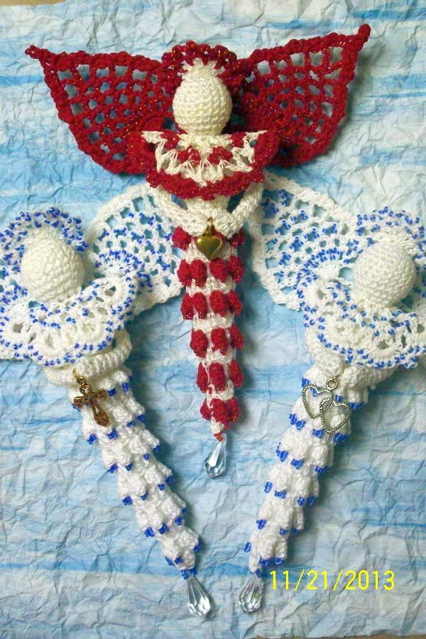 Crochet Pattern Central Angels : Icicle Ornament Crochet Pattern Free Crochet Pattern ...