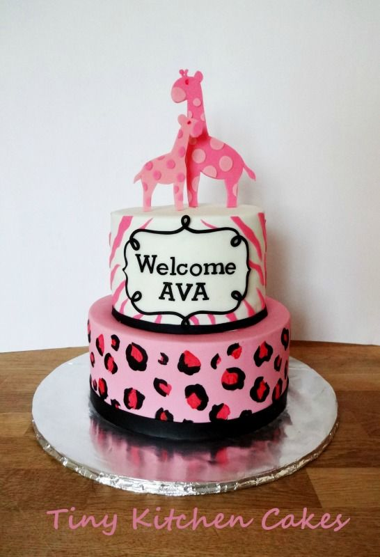 pink safari baby shower cake girl shower ideas pinterest