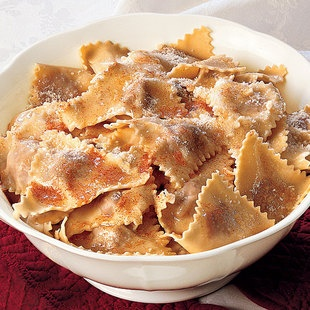 Tortelli From Cremona with Brown Butter and Parmesan Cheese.