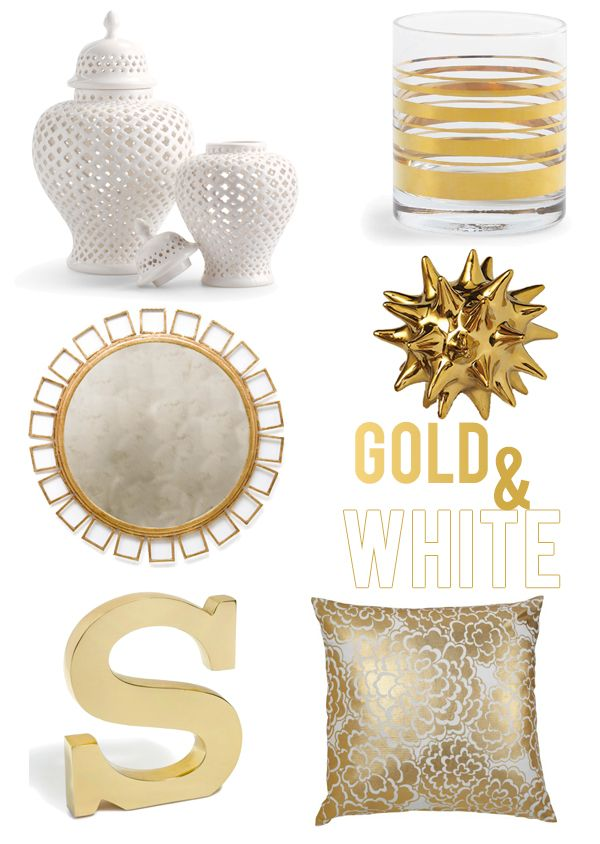 Get the Look White Gold Decor Weddings and homes