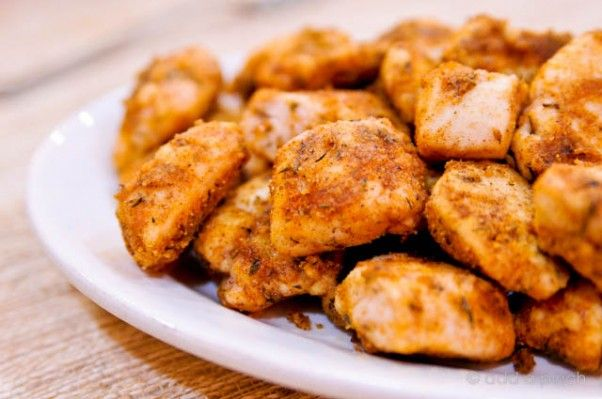 Quick oven-baked chicken nuggets