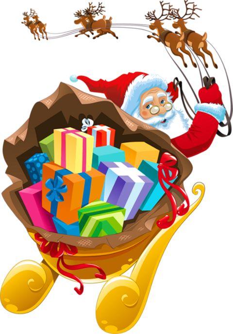 Santa Claus in his sleigh clip art | Clip Art Holiday Scrapbook, Card ...