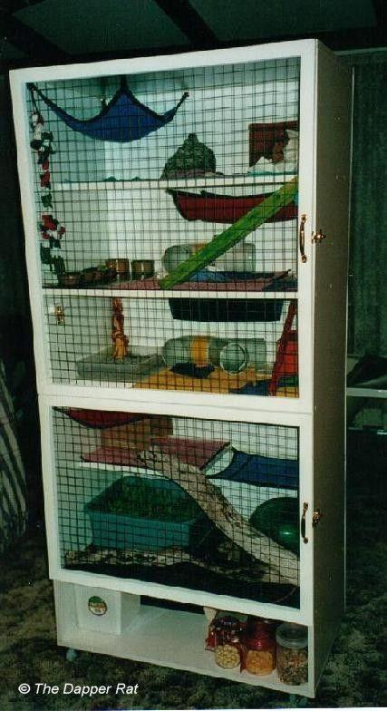 rat cage diy organization space saving pinterest. Black Bedroom Furniture Sets. Home Design Ideas