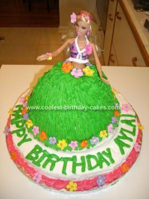 Hula Girl Cake Design : Homemade Hawaiian Hula Girl Cake Girly Birthday Party ...