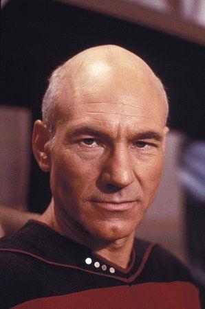 """Star Trek, The Next Generation"" Patrick Stewart 1988 Paramount"