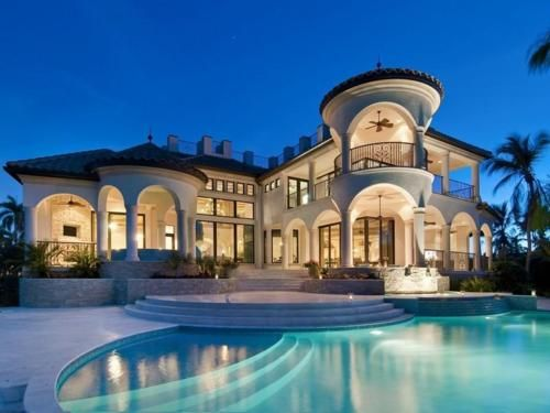 Beautiful mansion with pool homes homes pinterest for Pretty mansions