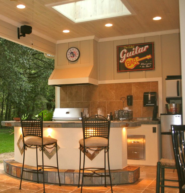 Custom Outdoor Summer Kitchen For Client In Gainesville Florida