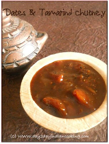 dates and tamarind chutney, sweet chutney recipe for indian chaats