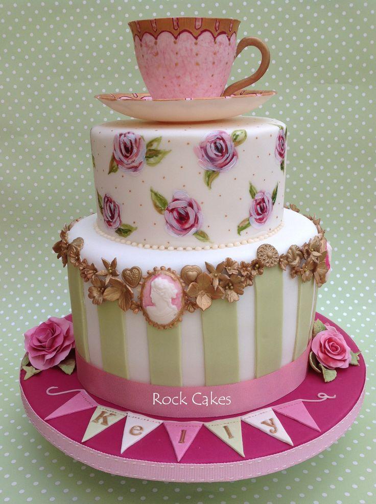 Tea Party Cake Images : Vintage Tea Party Female Birthday Cakes Pinterest