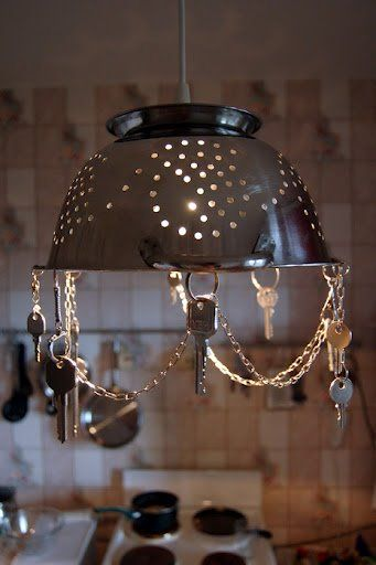lampadari per bambine : Recycling old kitchen items artwork8 Art in Everyday Things Pinte ...