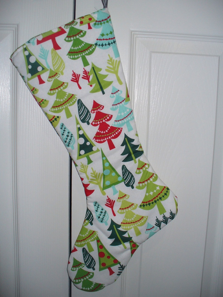 Modern christmas stockings fully lined five variations available
