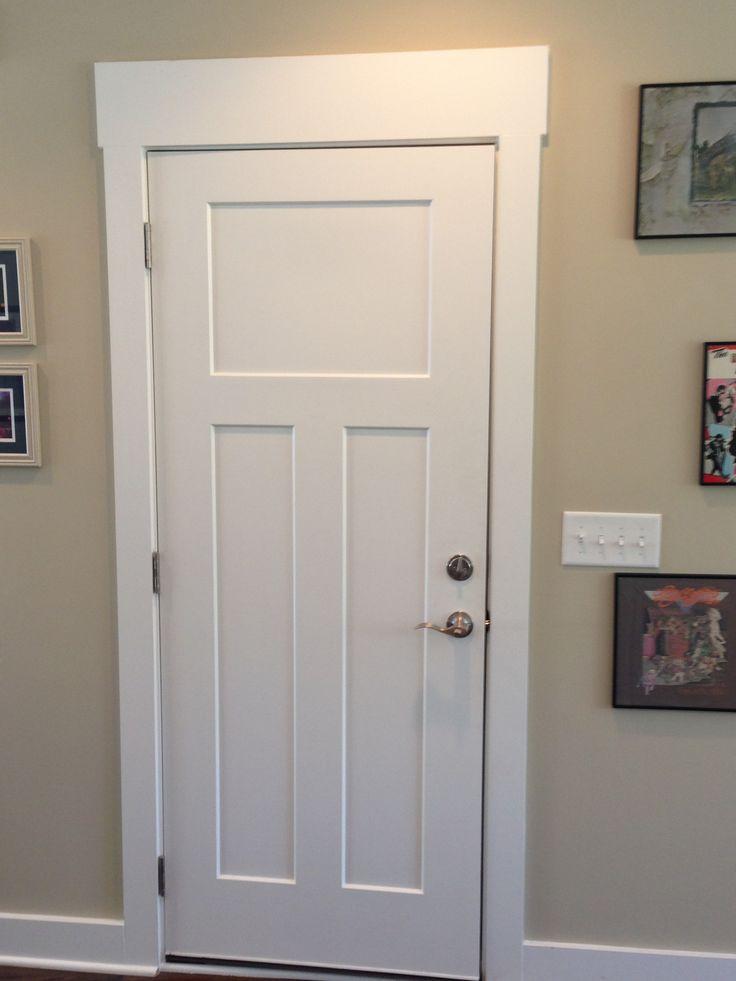 Craftsman craftsman interior door pinterest for Wood trim around doors