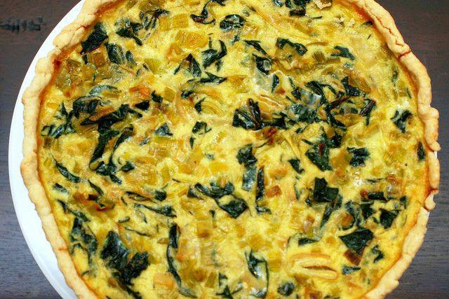 Swiss Chard, Leek, And Goat Cheese Tart Recipe — Dishmaps
