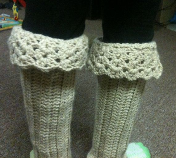 Crochet Boot Cuffs With Lace Pattern : Lace Boot Cuffs / Leg Warmers (crochet pattern)