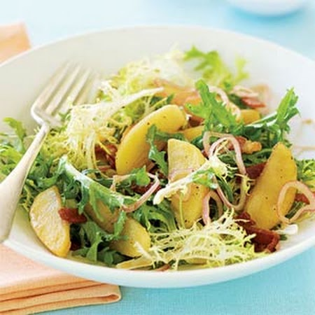 Roasted Apple, Bacon, and Frisée Salad | Blog Food Inspiration | Pint ...