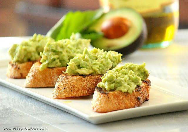 Avocado Bruschetta | Foodness Gracious | Food Stuff | Pinterest