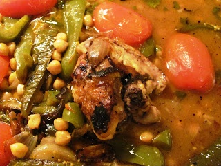 Creating Nirvana: Cuban Chicken Legs with Peppers, Tomatoes, and ...