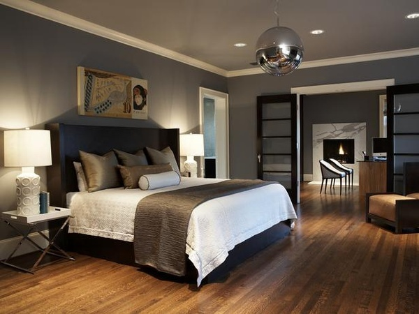 More guest room inspiration! grey, black and white room bedroom-style