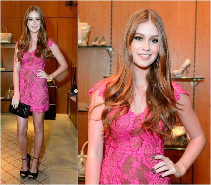 Marina Ruy Barbosa - vestido de renda rosa