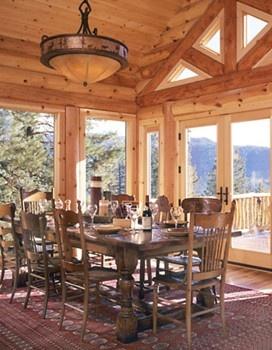 Log Cabin Dining Room Log Cabin Pinterest
