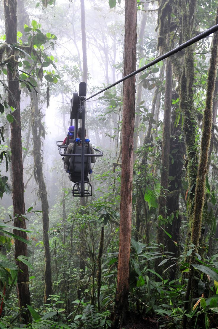 Ride the Sky Bike through an Andean cloud forest at Ecuador's remote Mashpi Lodge. #travel #bucketlist