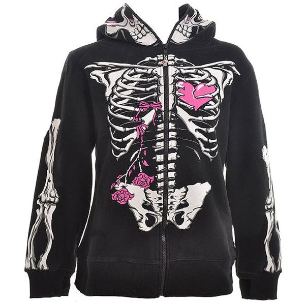 Womens Skeleton Hoodie - Skeleton Sweatshirt