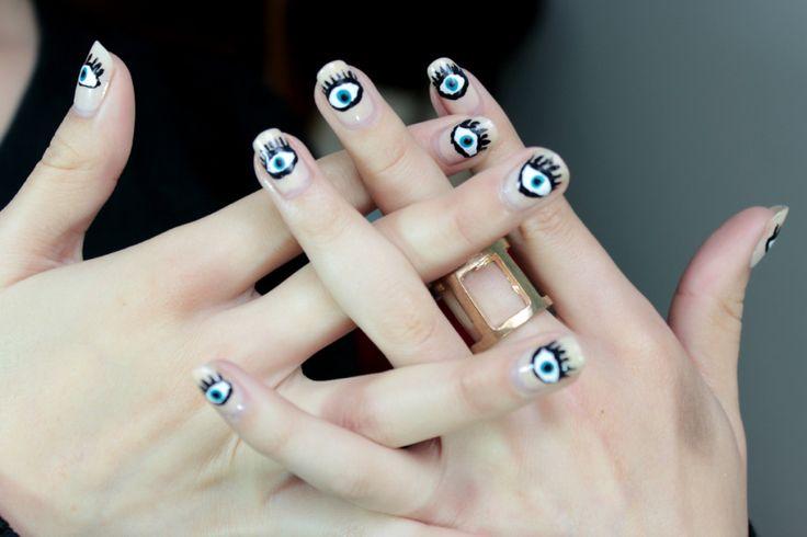 Nail art, evil eye | diValenciaGlam | Pinterest