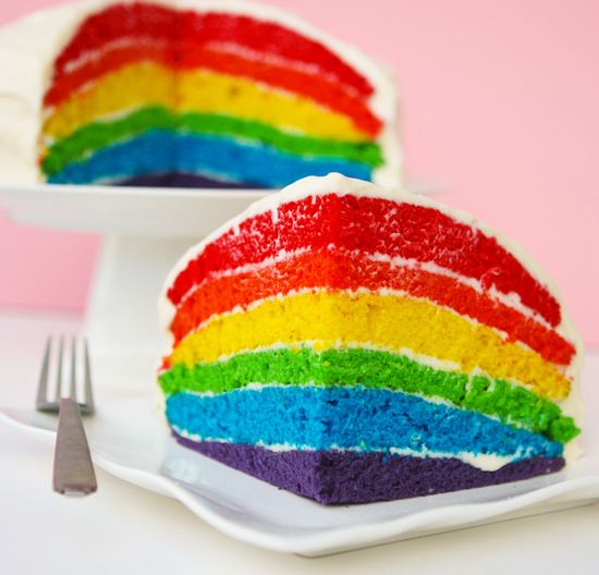 I love rainbow cakes. I need to make one, one of these days!
