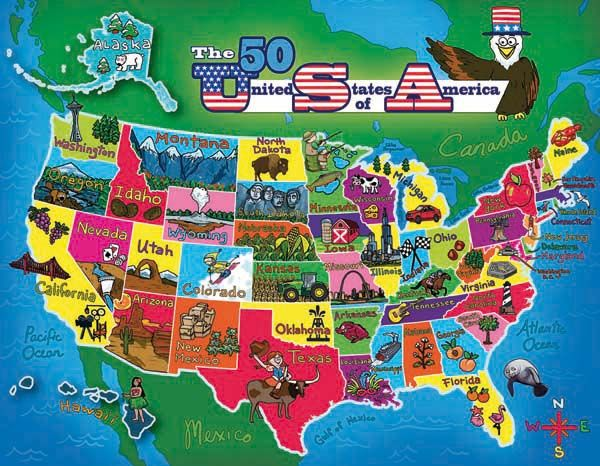United States Map Jigsaw Puzzle Online