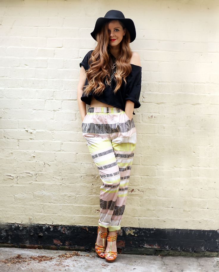 soaked in luxury printed trousers