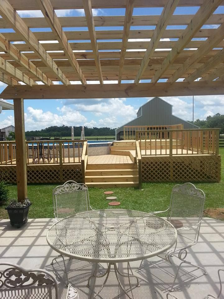 Above ground pool deck   For the Home   Pinterest