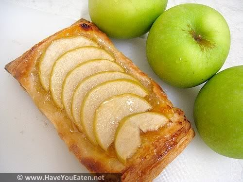 quick and easy puff pastry apple tart | sweet things | Pinterest