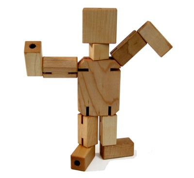 Wooden Robot Man with moveable parts