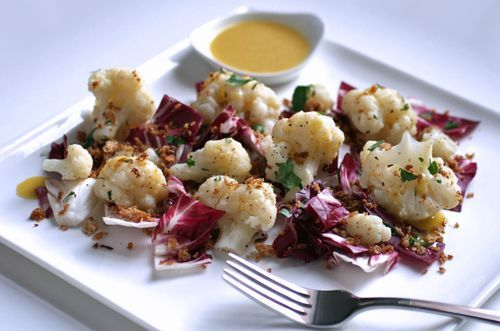 Radicchio and Cauliflower Salad with Toasted Breadcrumbs- from the ...