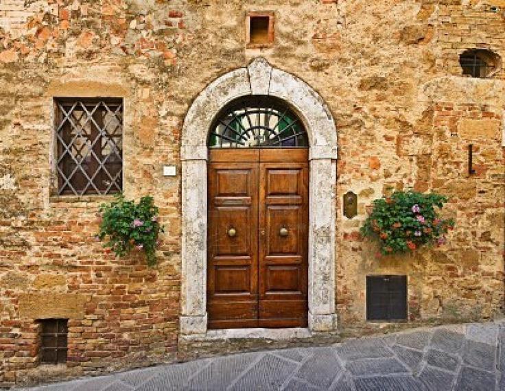 Old Door Pienza Tuscany Italy Doors Pinterest