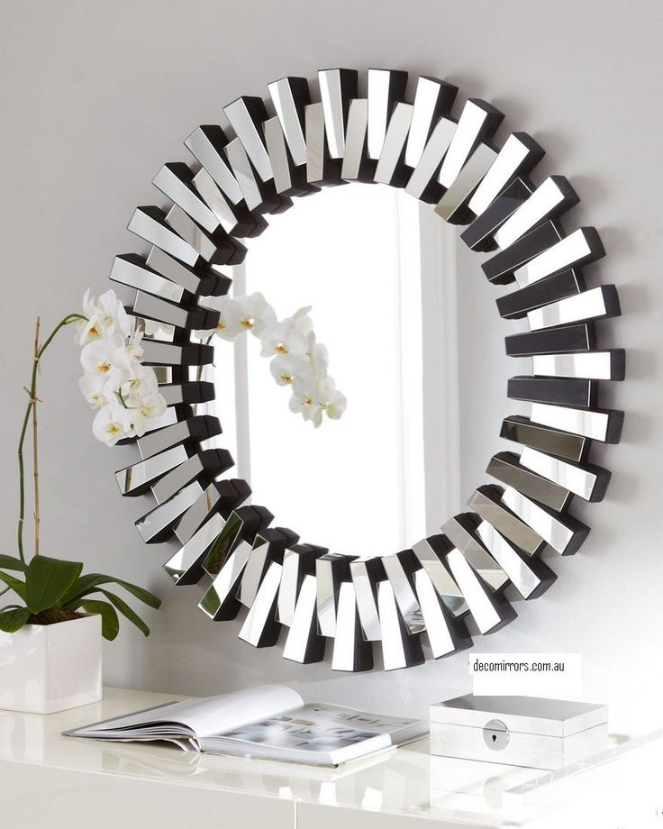 Home Decor Silver Round Mirror WALL DECOR Pinterest