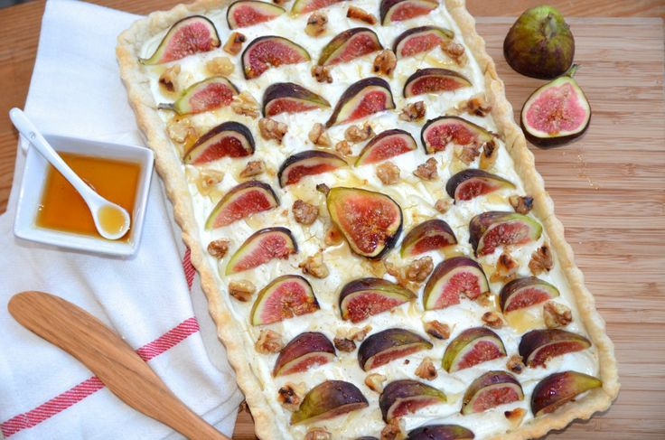 Rustic Fig Walnut Tart | Featured On: CAMILLE STYLES | Meyers Styles