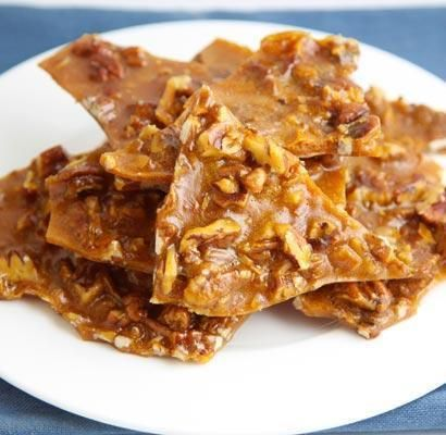 Chewy Pecan Pie Brittle is not hard, but soft and chewy. With an ...