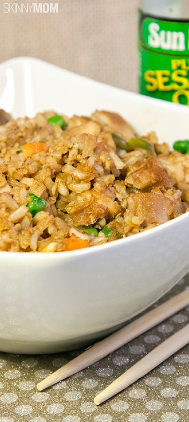 Chicken Fried Rice lovers will rejoice over this skinny recipe!
