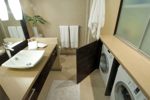 Washing machine bathroom ideas pinterest for Bathroom designs with washing machine