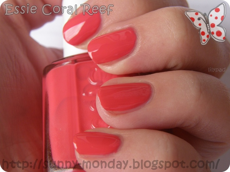 essie coral reef nail polish colors i love pinterest
