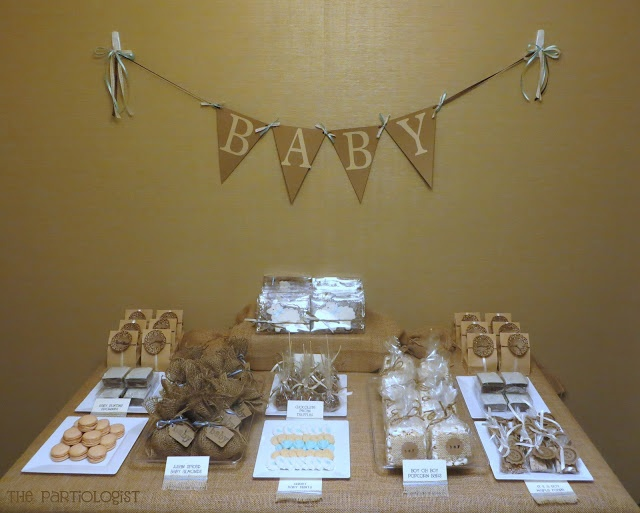 burlap baby party boy shower ideas pinterest