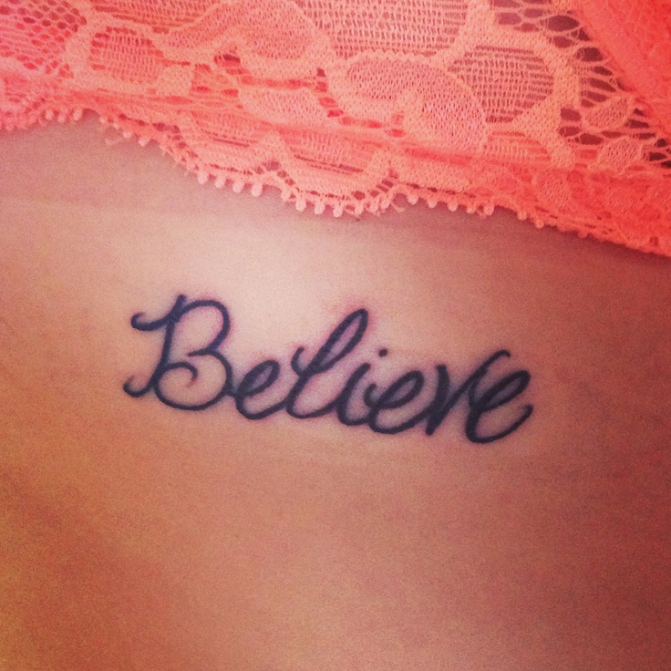 pin believe tattoos on