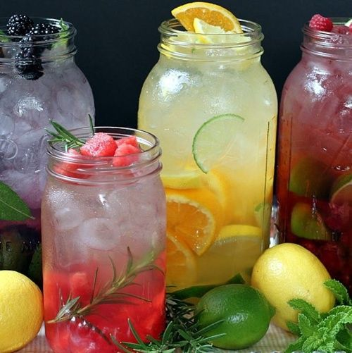 iced fruit lemonade | Unique cocktails and drinks | Pinterest